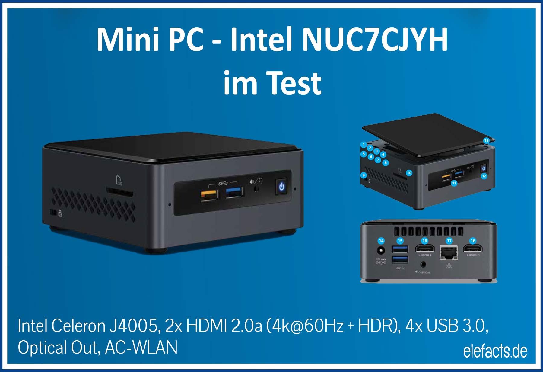 Intel Nuc7cjyh Im Test Mit Libreelec Und Unter Windows 10