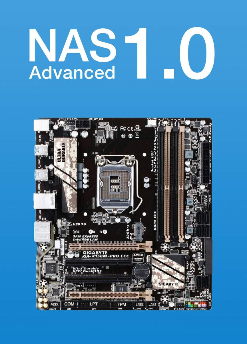NAS Advanced 1.0 - Intel Kaby Lake mit ECC-Ram, 6x SATA und M.2