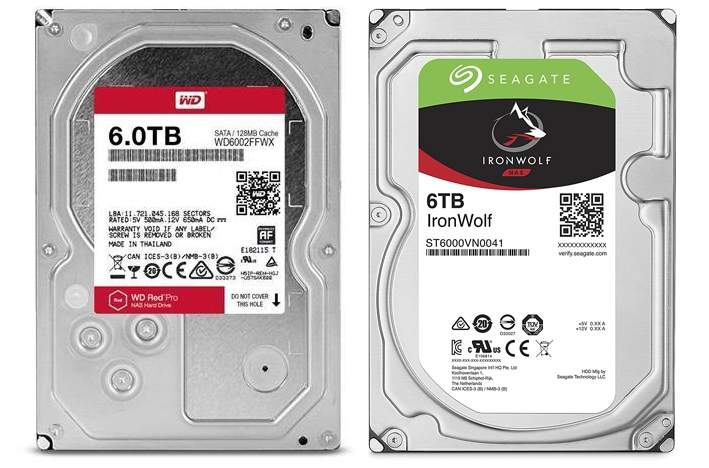 NAS Festplatten: WD Red vs. Seagate Ironwolf